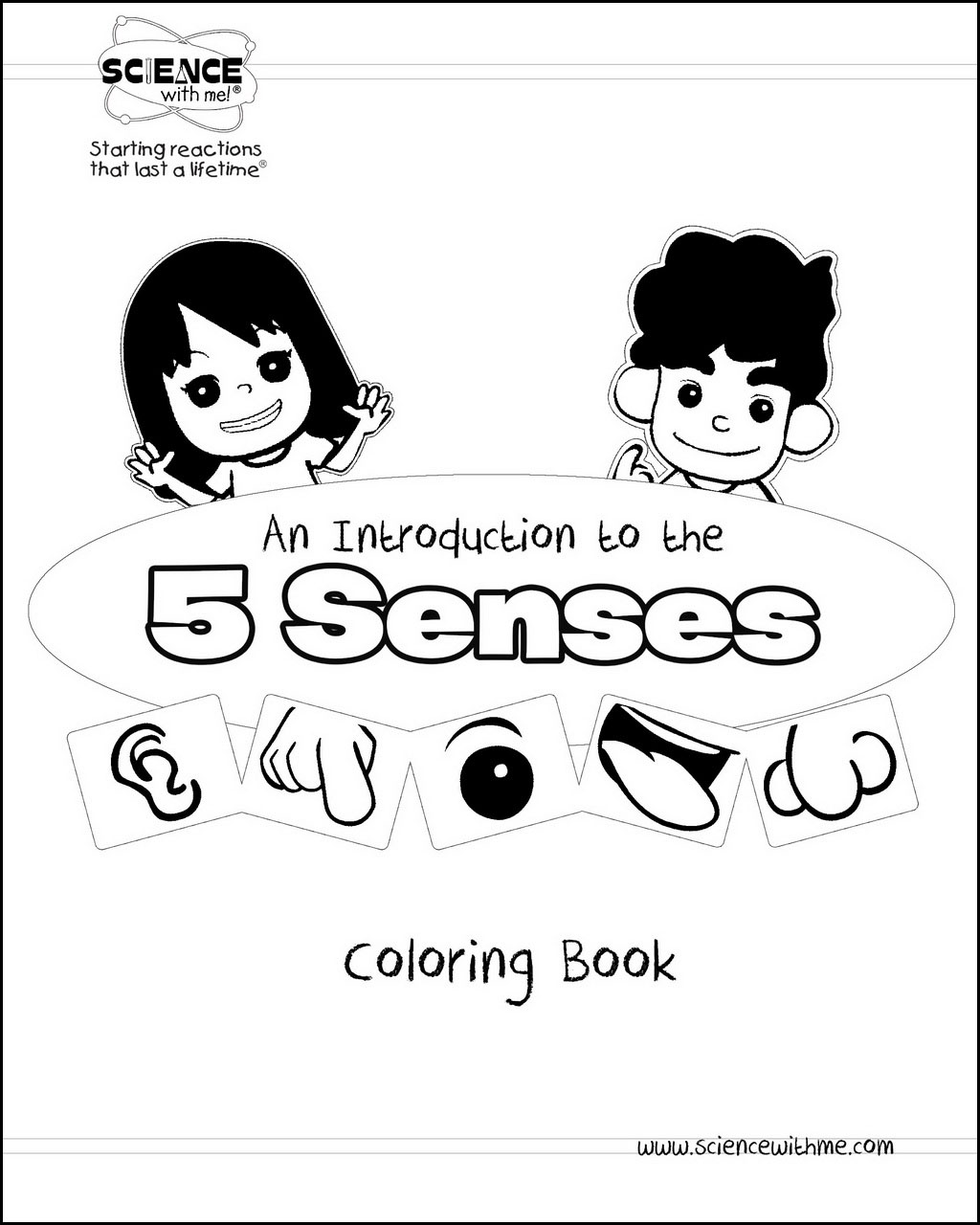 5-Senses Coloring Book