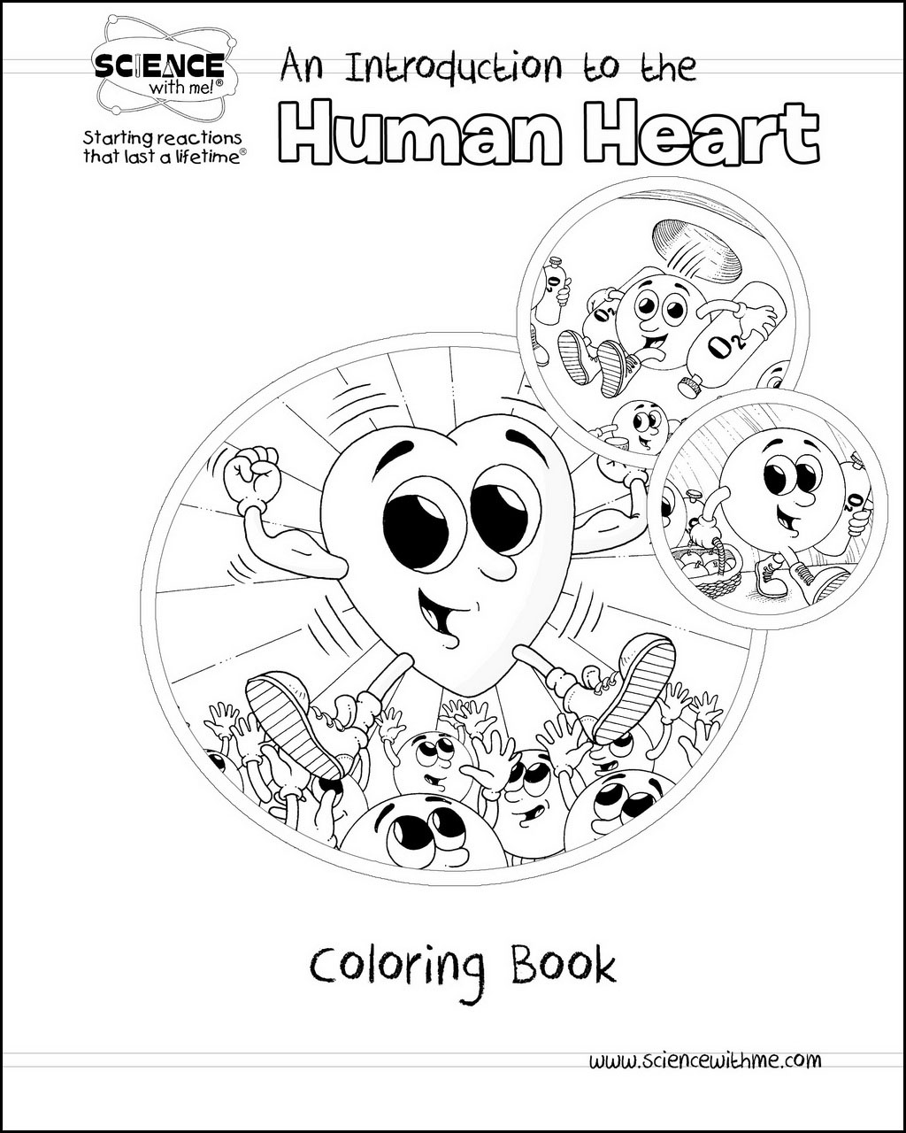 Human Heart Coloring Book