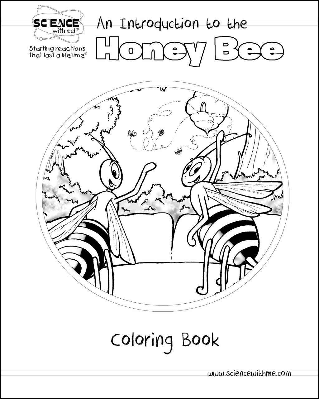 Honey Bee Coloring Book