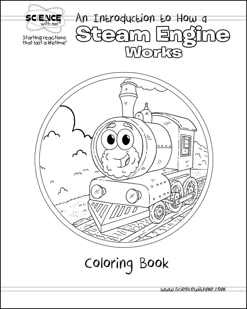 Steam Engine Coloring Book